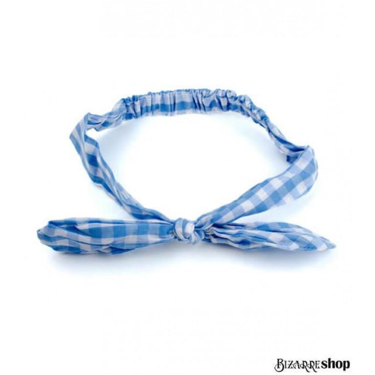 Повязка для волос голубо-белая