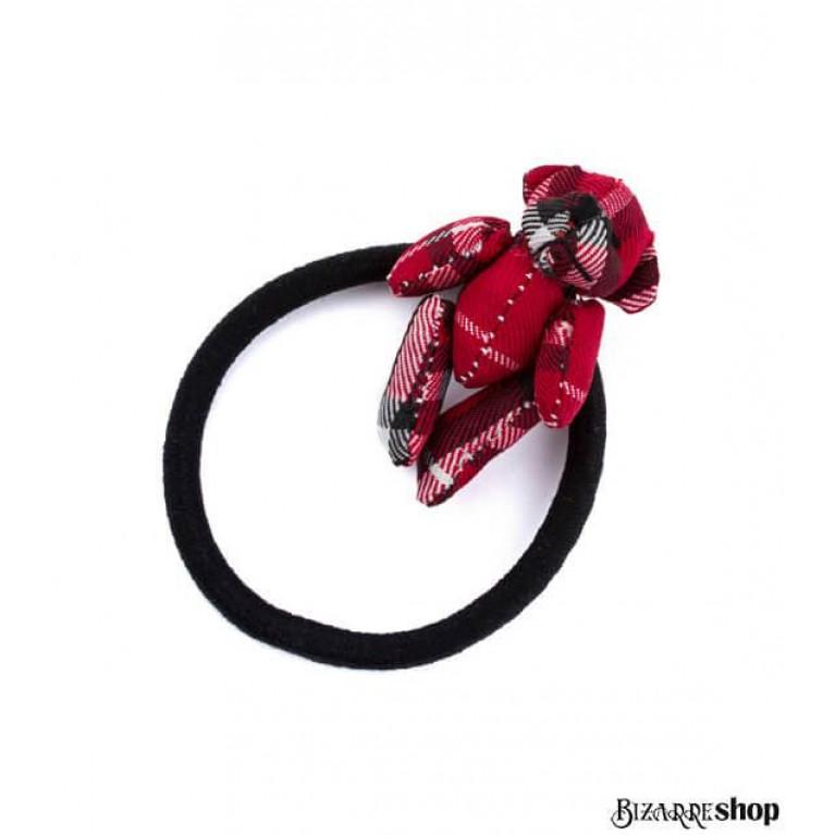 Резинка для волос красный мишка