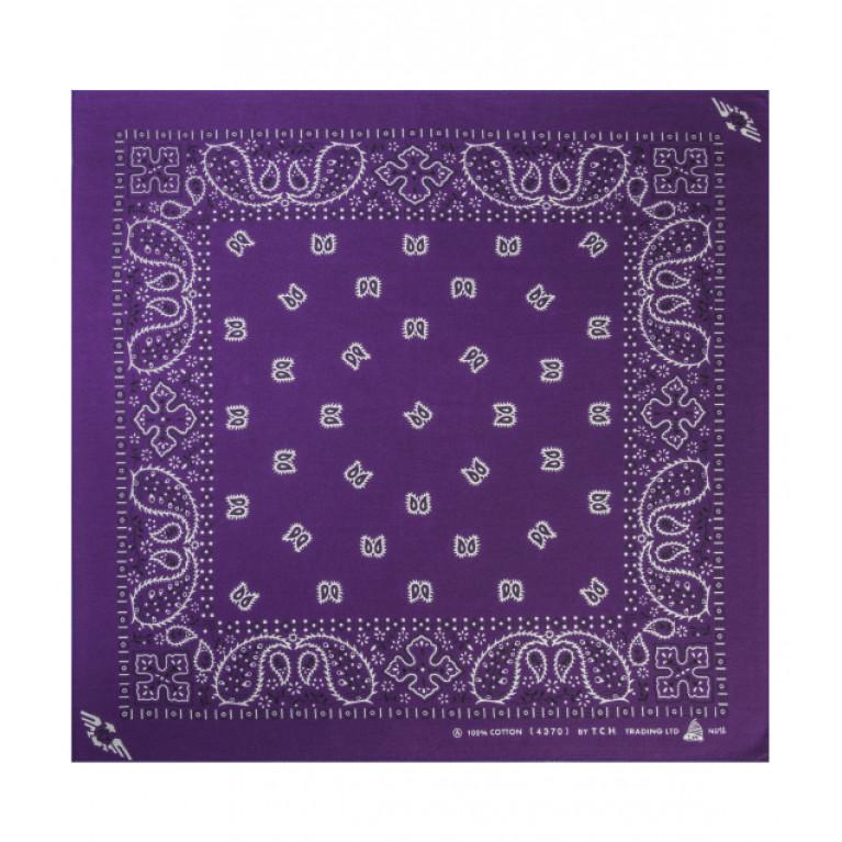 Бандана огурцы фиолетовая
