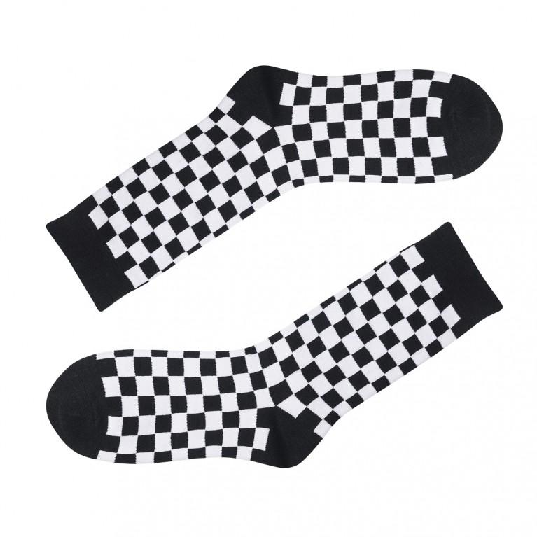 Носки в клеточку черно-белые