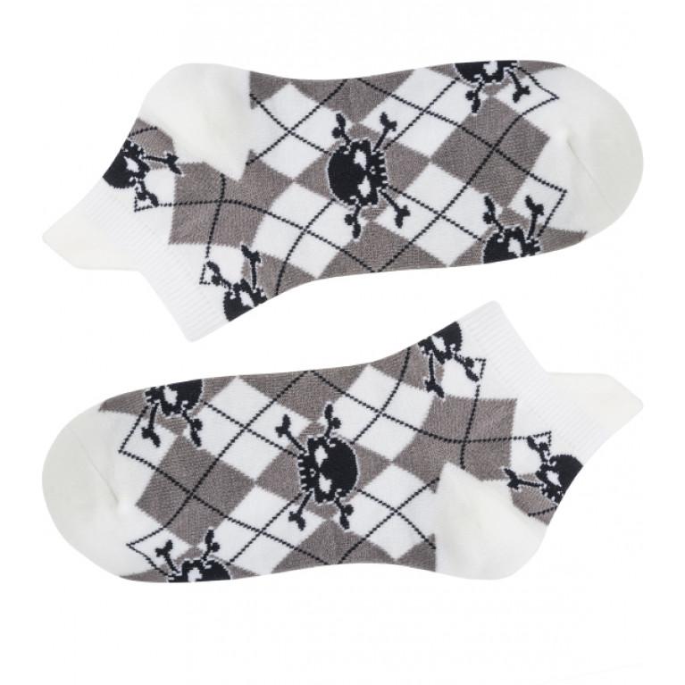 Носки белые Черепа