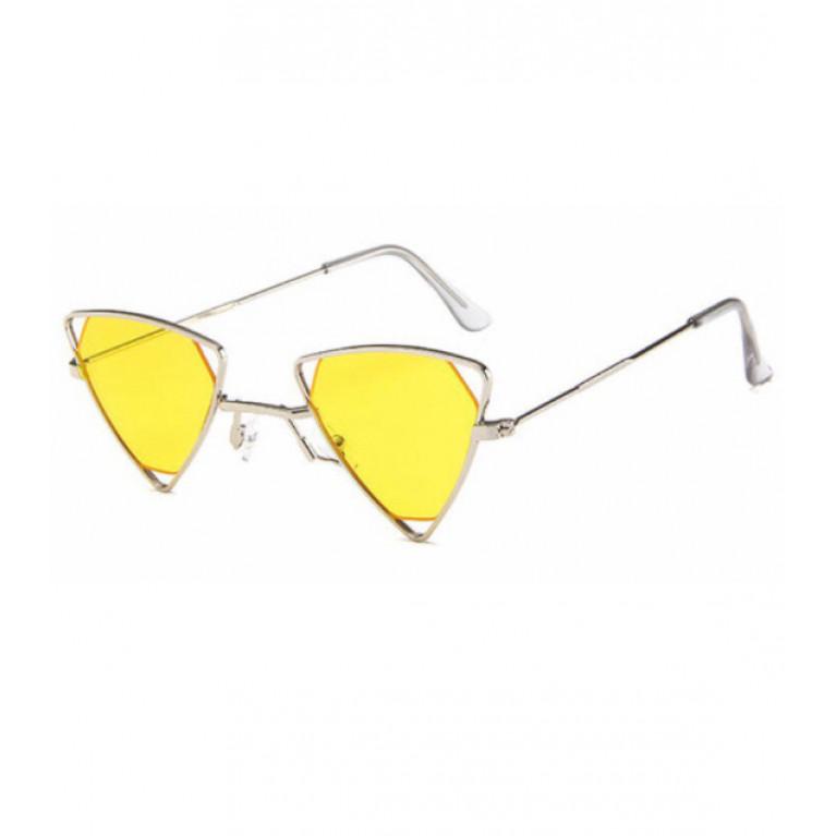 Очки желтые винтажные треугольные