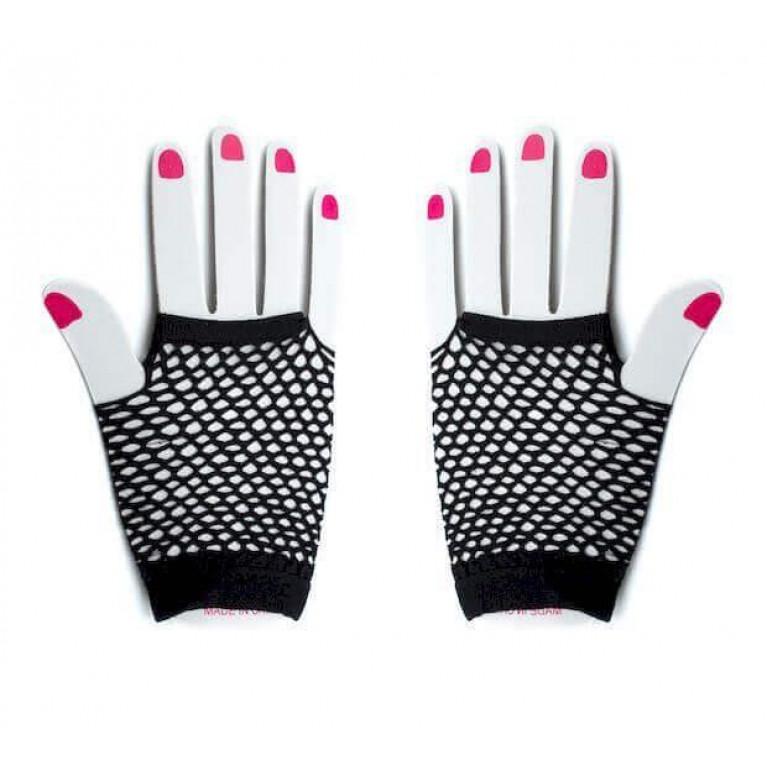"""Перчатки в сеточку короткие """"Sexy hands"""" чёрные"""