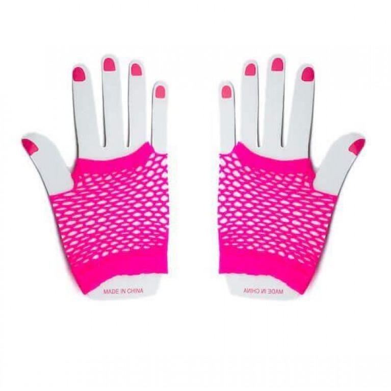 """Перчатки в сеточку короткие """"Sexy hands"""" пурпурные"""