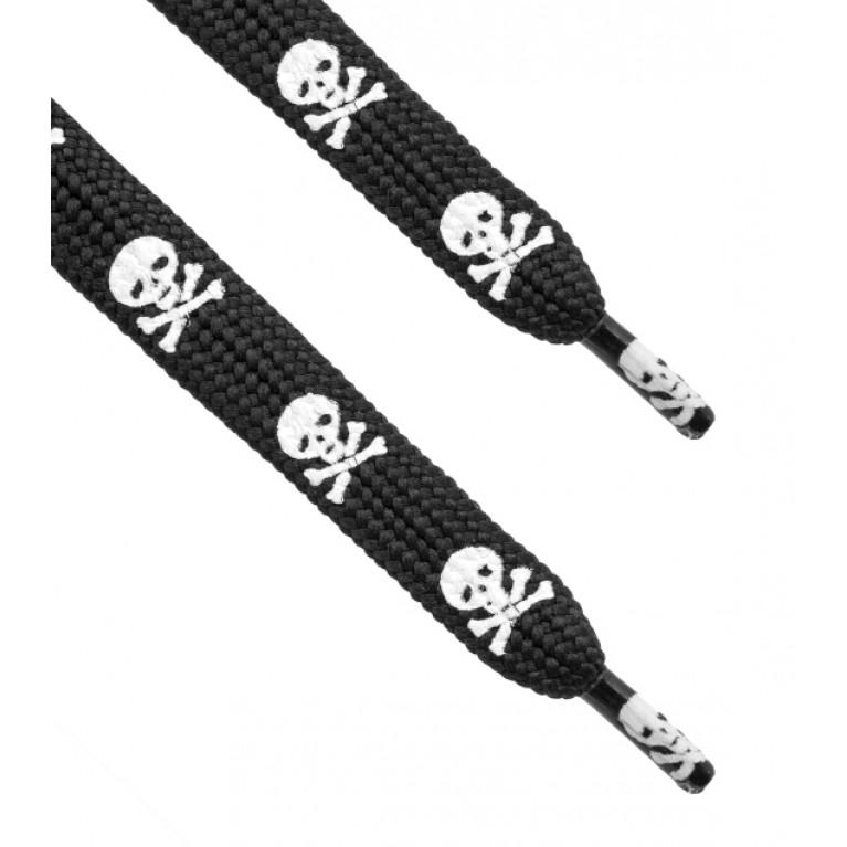 Шнурки Skulls black