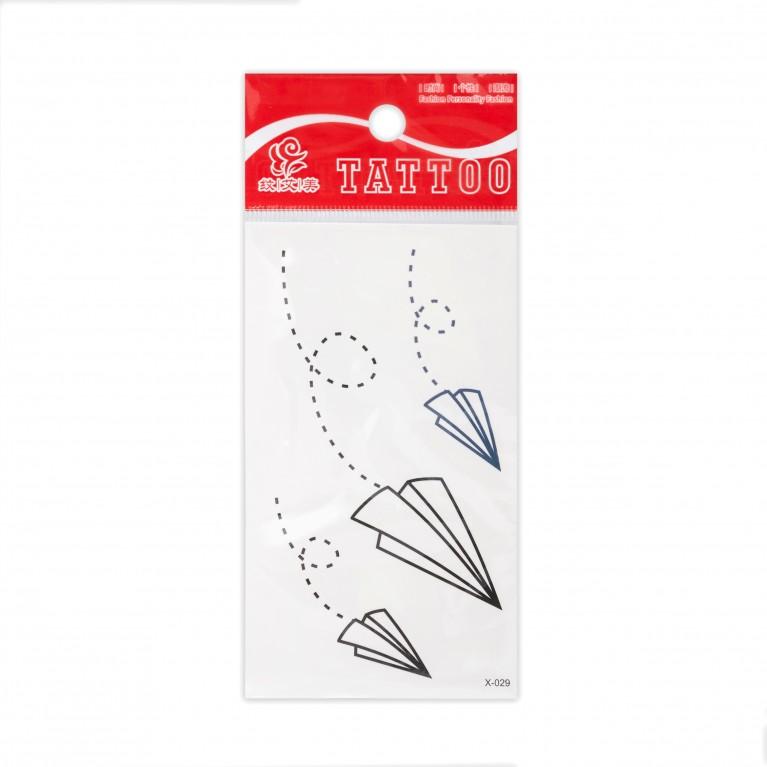Временная татуировка Paper Airplane