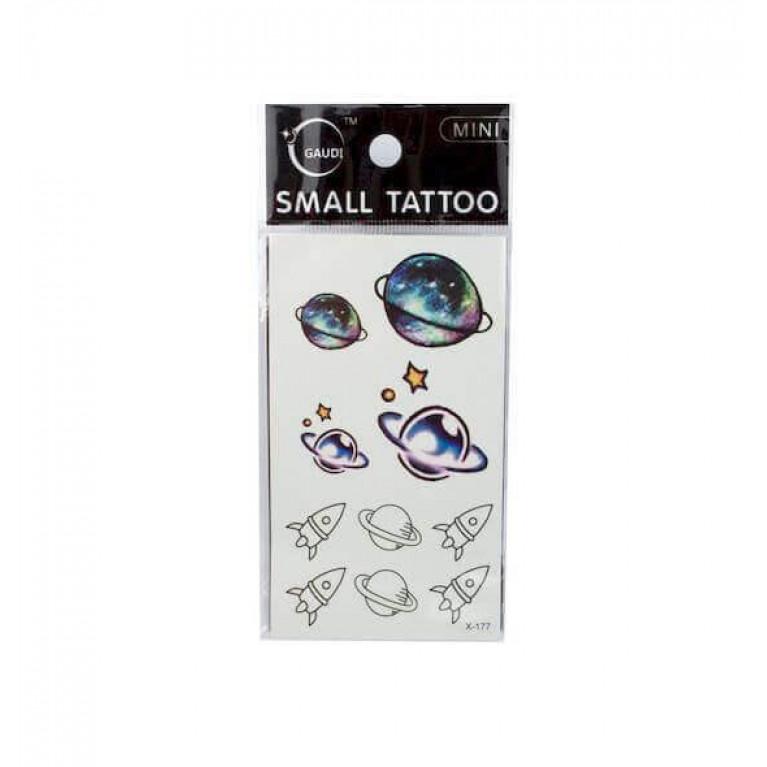 Временная татуировка Space