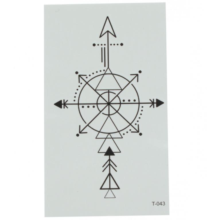 Временная татуировка Геометрический компас