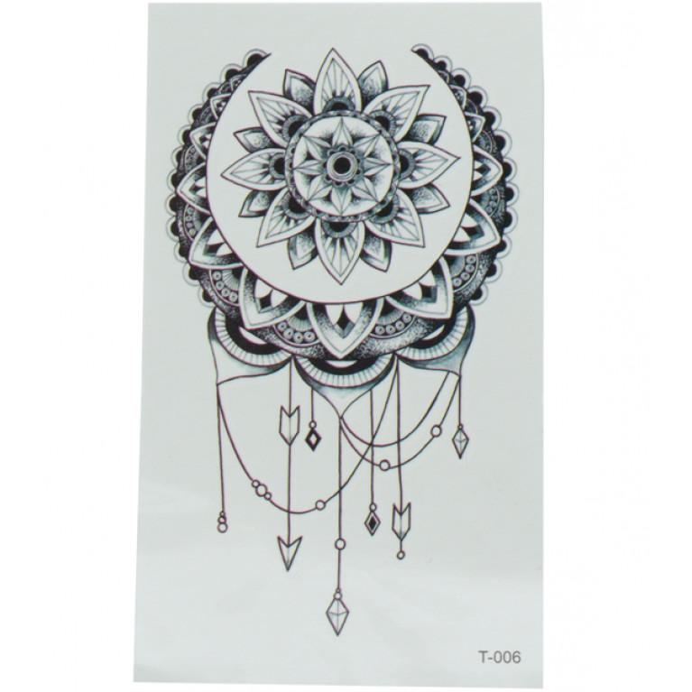 Временная татуировка Мандала
