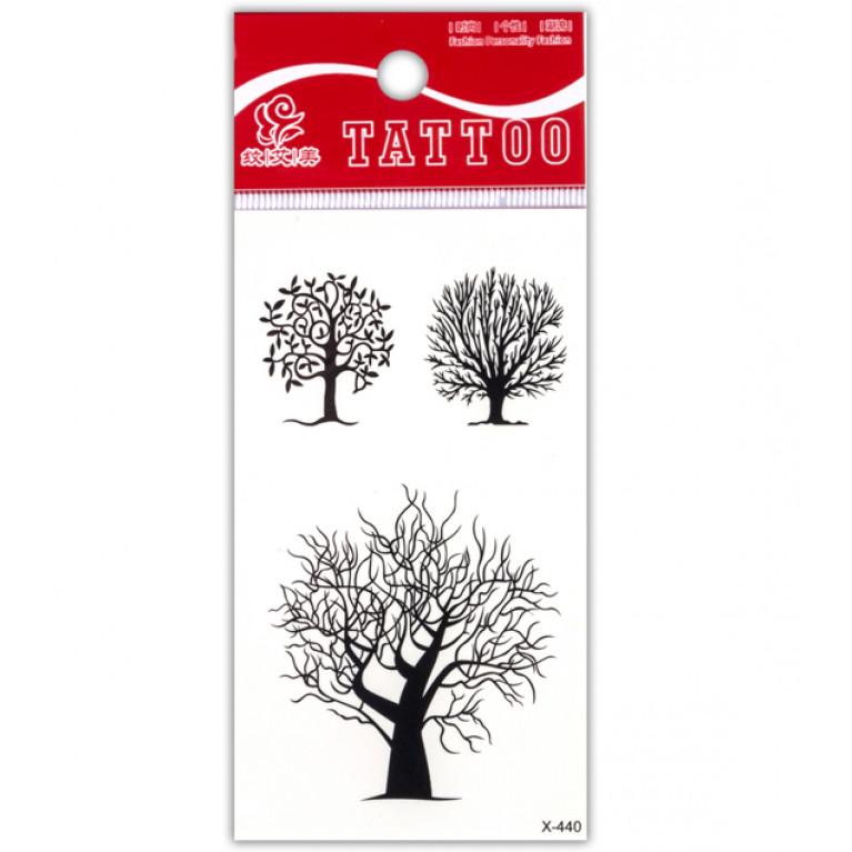 Временная татуировка Деревья