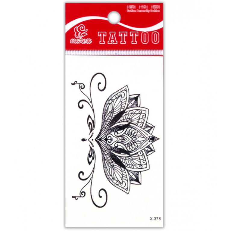 Временная татуировка Лотос