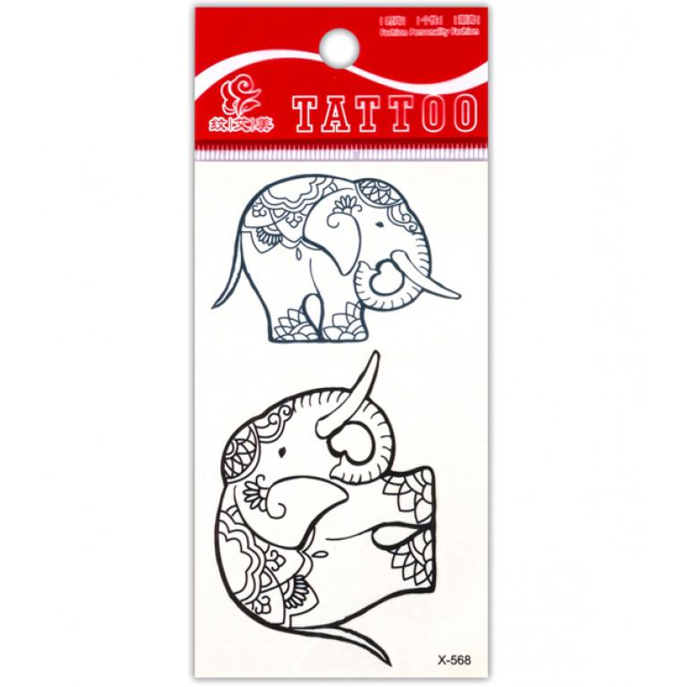 Временная татуировка Индийский Слон