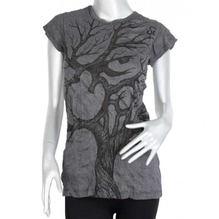 Женская футболка ОМ тёмно-серая
