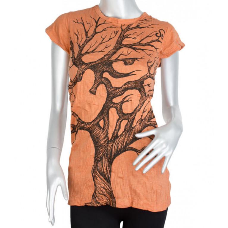 Женская футболка ОМ оранжевая