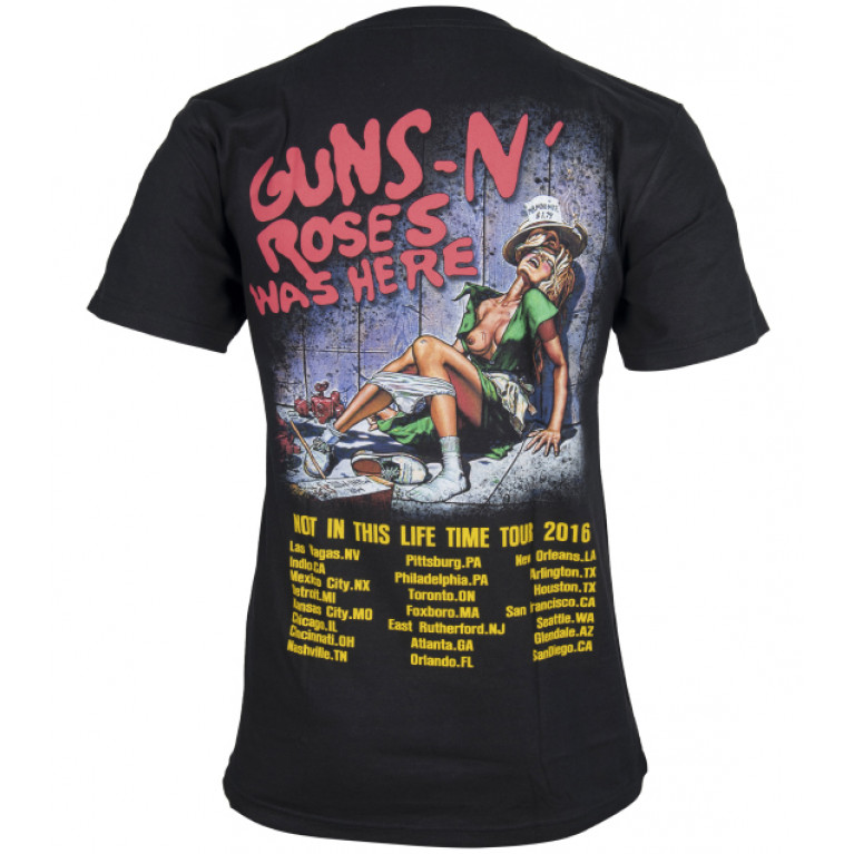 Футболка Guns N' Roses Not in This Life Time