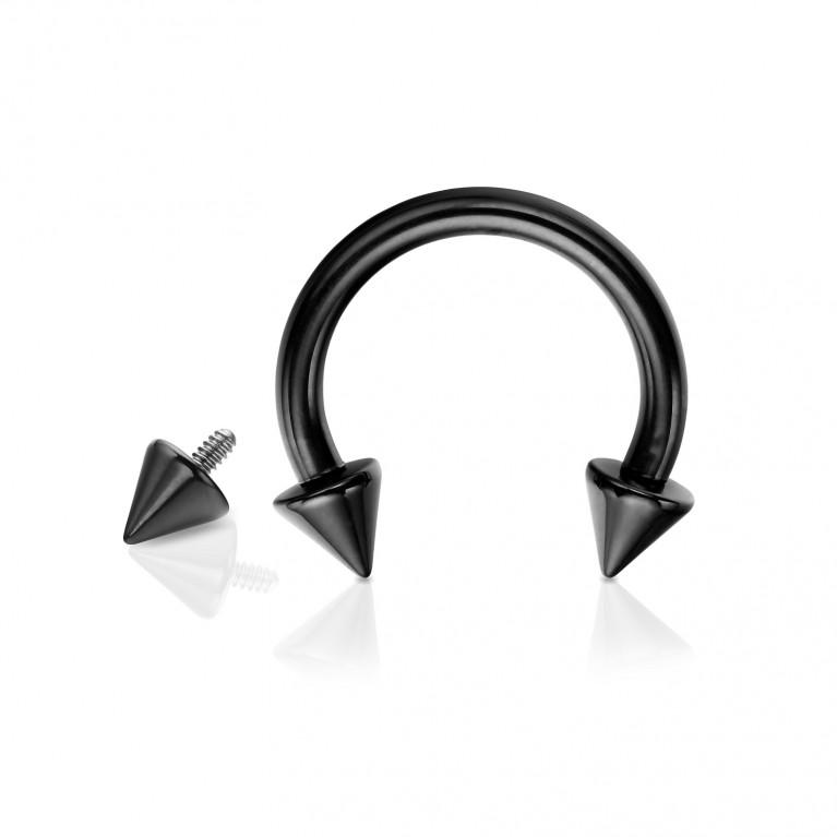 Циркуляр из титана с конусами черный