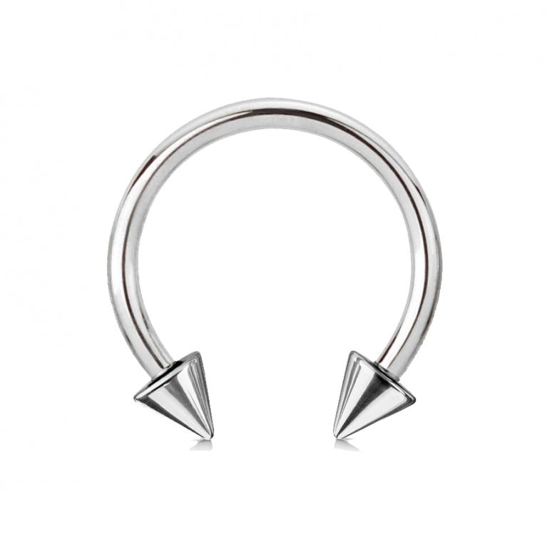 Циркуляр с конусами серебристый