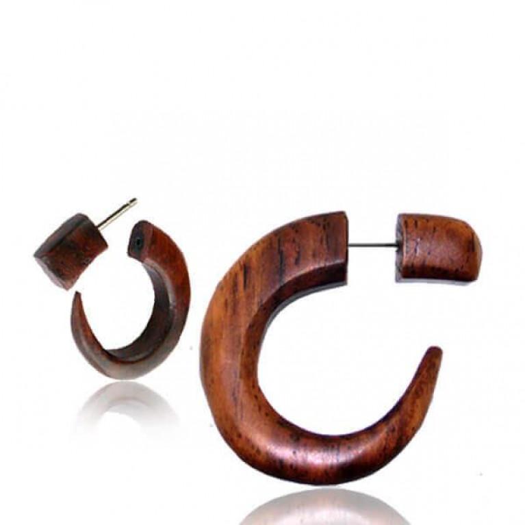 Фейк коготь деревянный коричневый диаметр 7 мм.