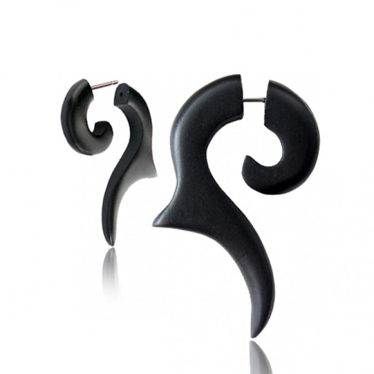Фейк спираль Чёрный резной конёк
