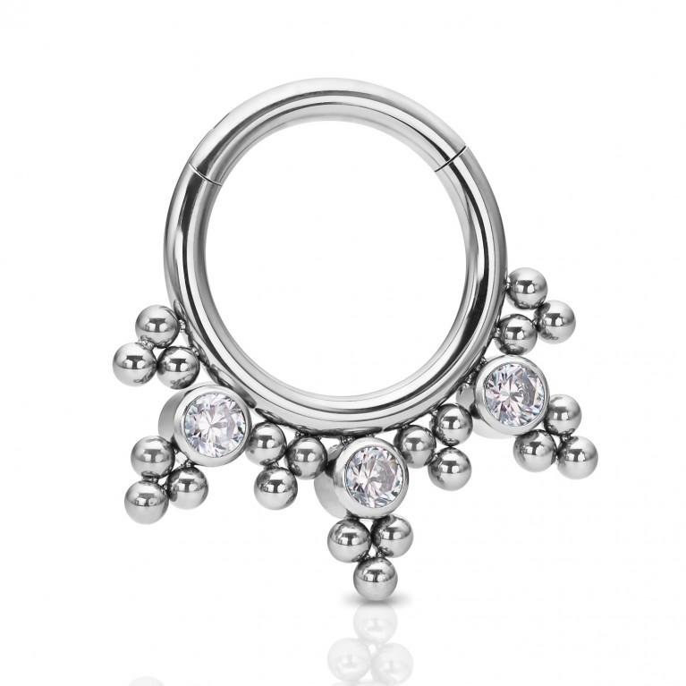 Кликер титановый Bloom с кристаллами CZ