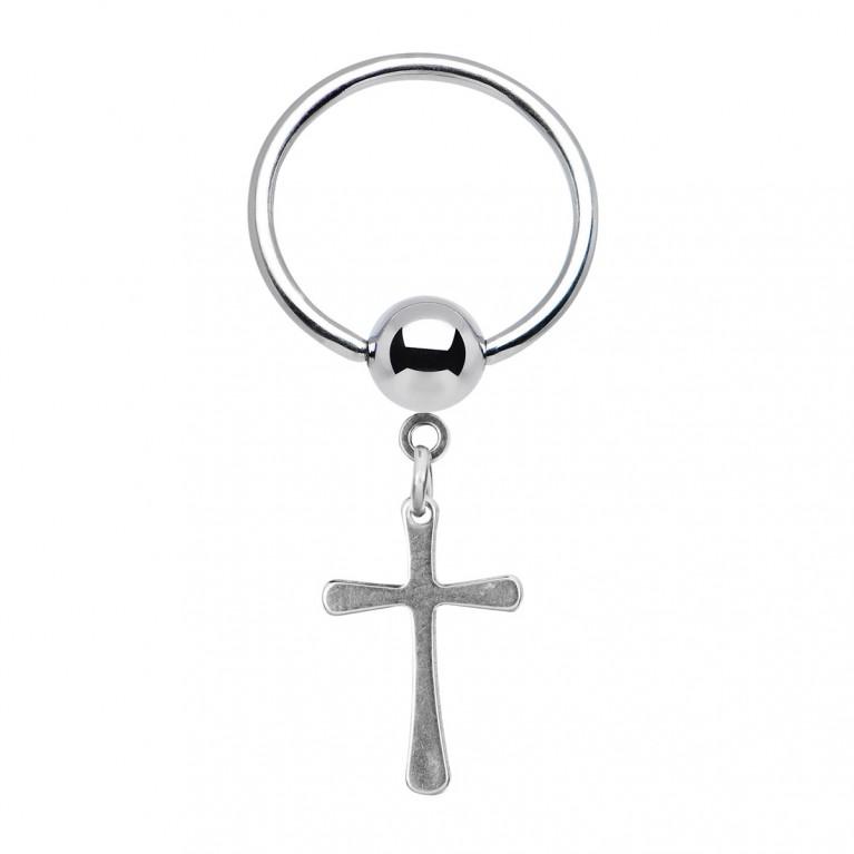 Кольцо BCR с крестом