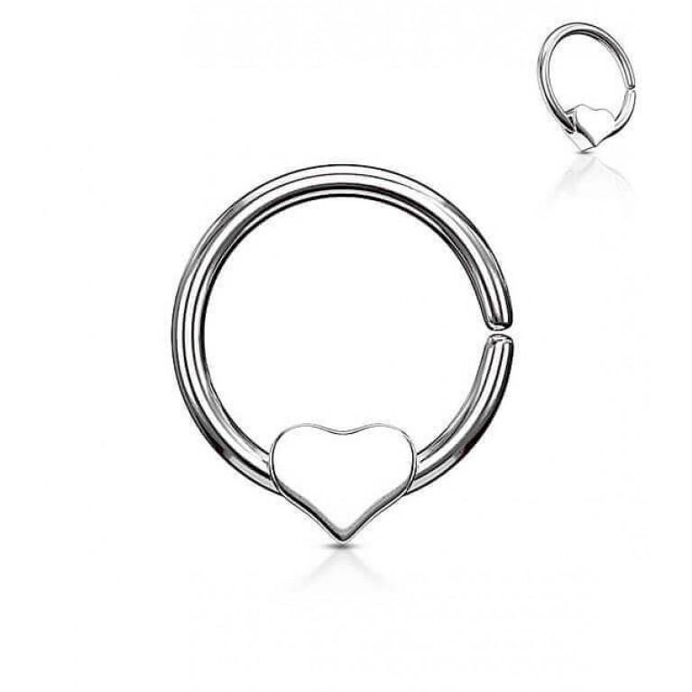 Кольцо разжимное с сердечком толщина 1.2 мм диаметр 10 мм