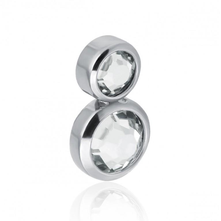 Кластер накрутка из титана на 2 кристалла Swarovski