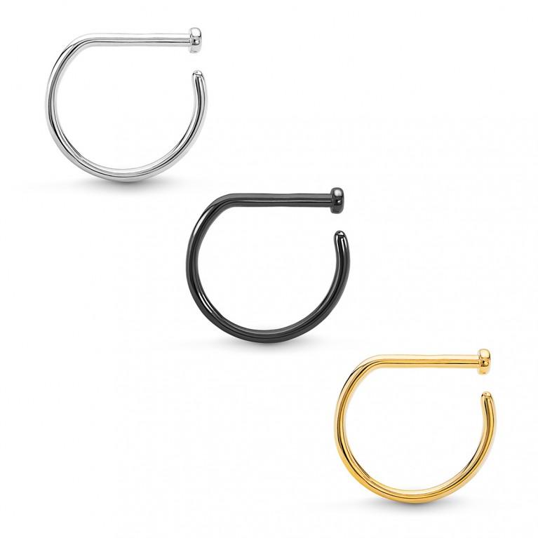 D-ring кольцо в нос титановое
