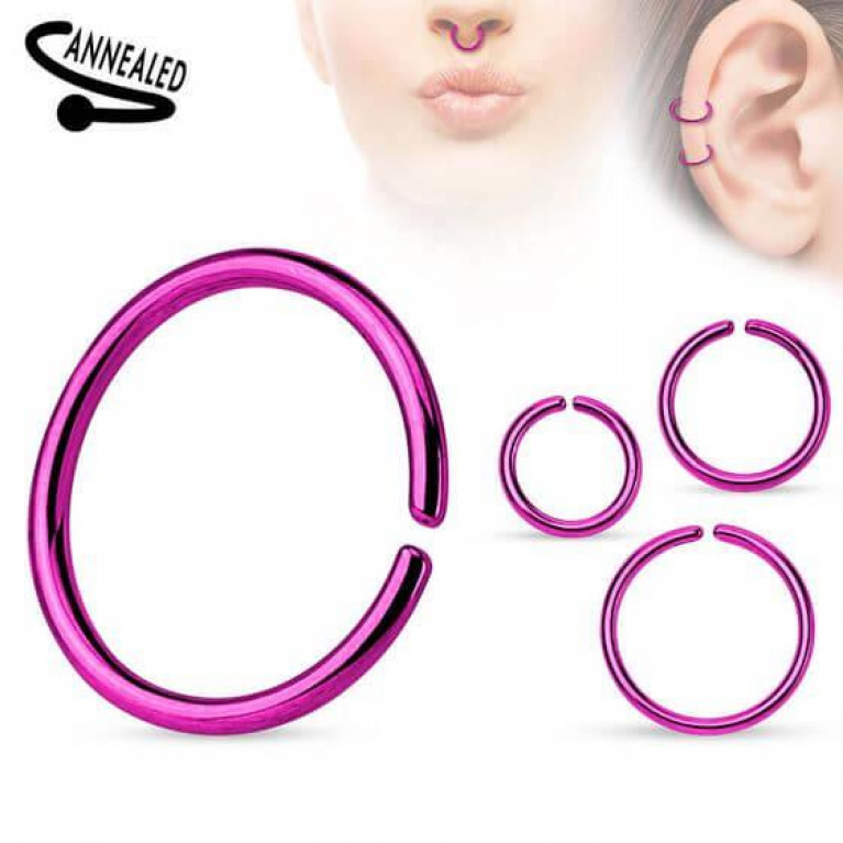 Кольцо разжимное анодированное фиолетовое