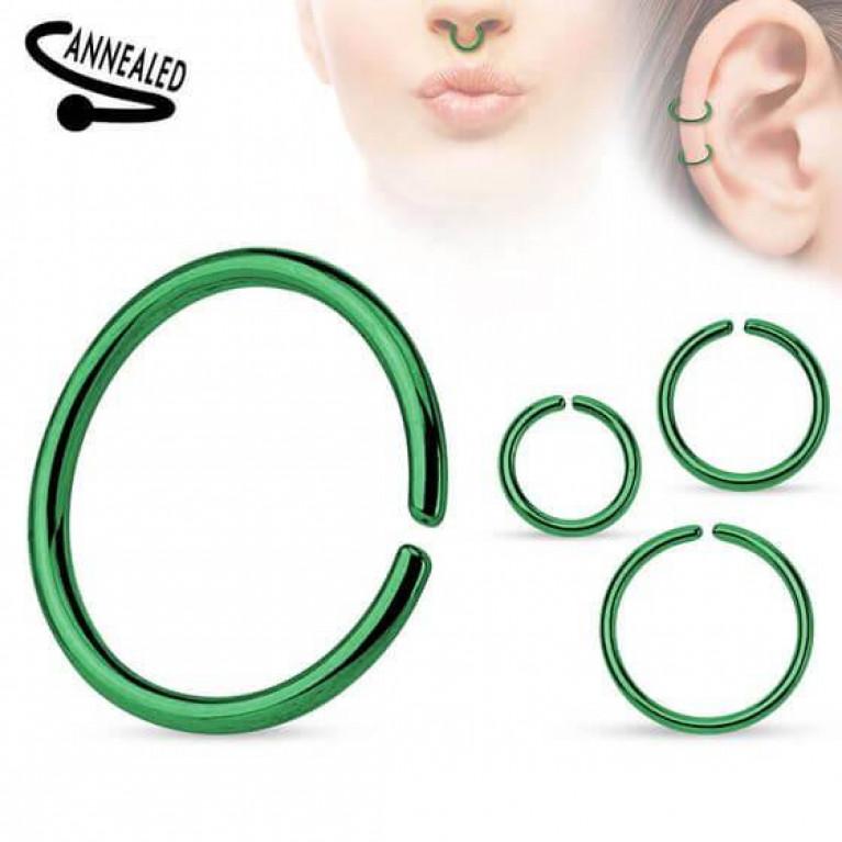 Кольцо разжимное анодированное зеленое
