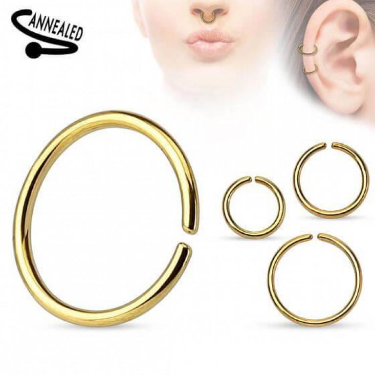 Кольцо разжимное анодированное золотое