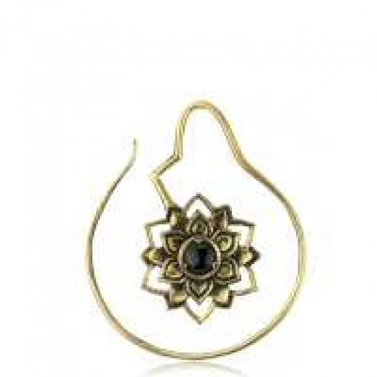 Растяжка спираль Цветок из латуни