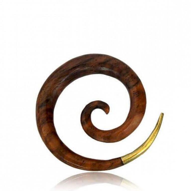 Растяжка спираль с латунным наконечником.