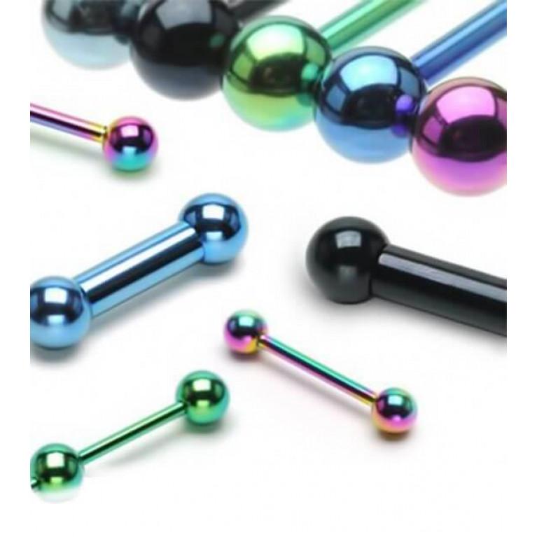 Штанга цветная толщина 1.6 мм. длина 16 мм. шарик 6 мм.