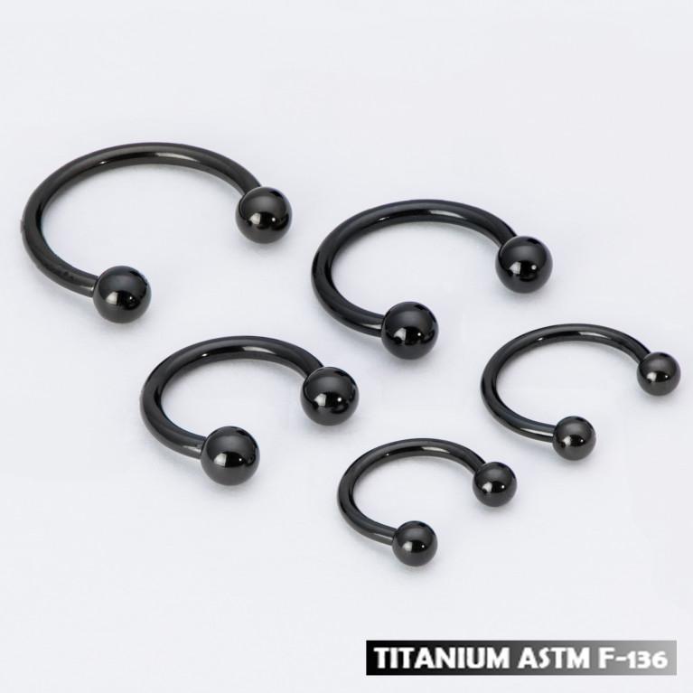 Циркуляр из титана черный