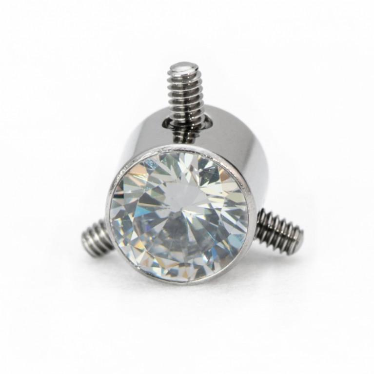 Коннектор титановый белый кристалл с интернальной резьбой