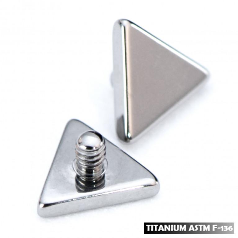 Накрутка треугольник из титана с интернальной резьбой 1,2 мм