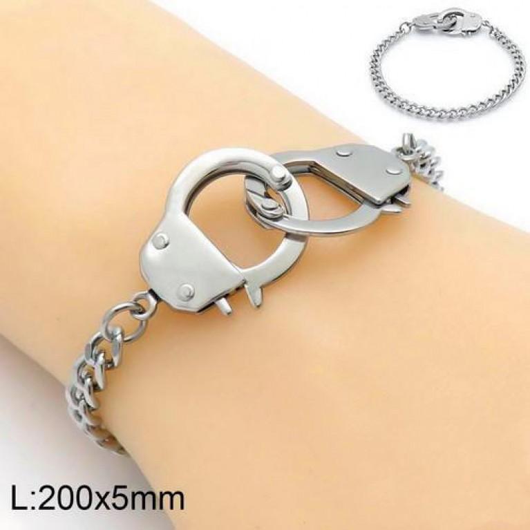 Браслет наручники ювелирная сталь