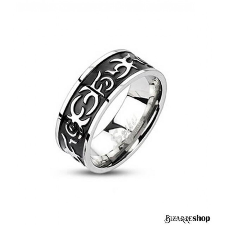 Кольцо стальное Tribal