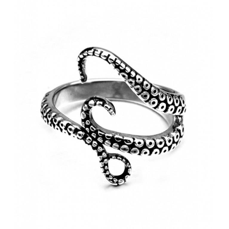 Кольцо стальное Осьминог