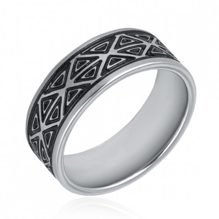 Кольцо из ювелирной стали Орнамент