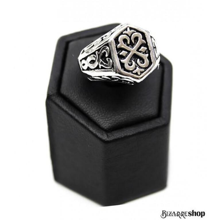 Перстень стальной Резной Орнамент