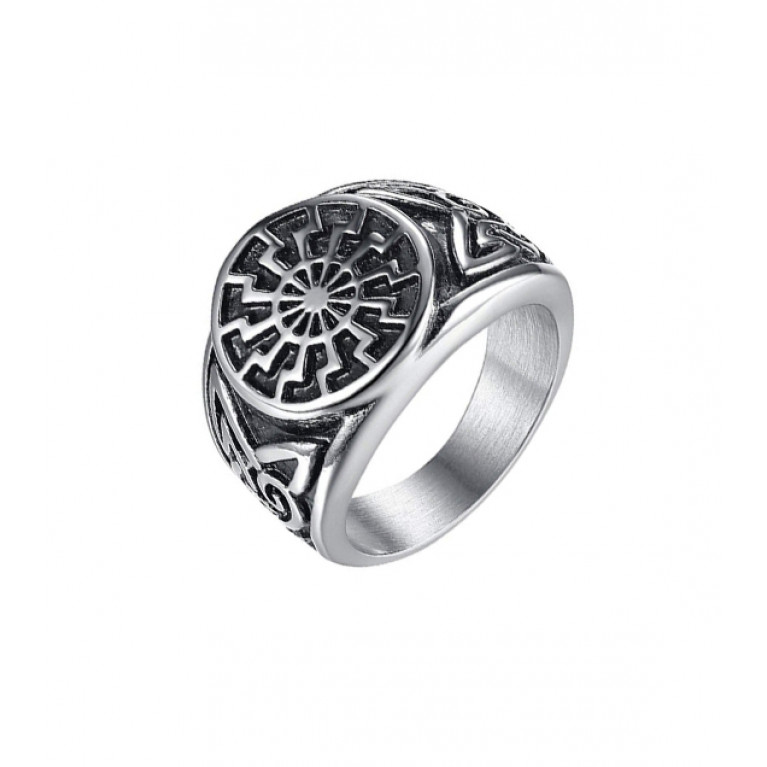 Перстень из ювелирной стали Солнце