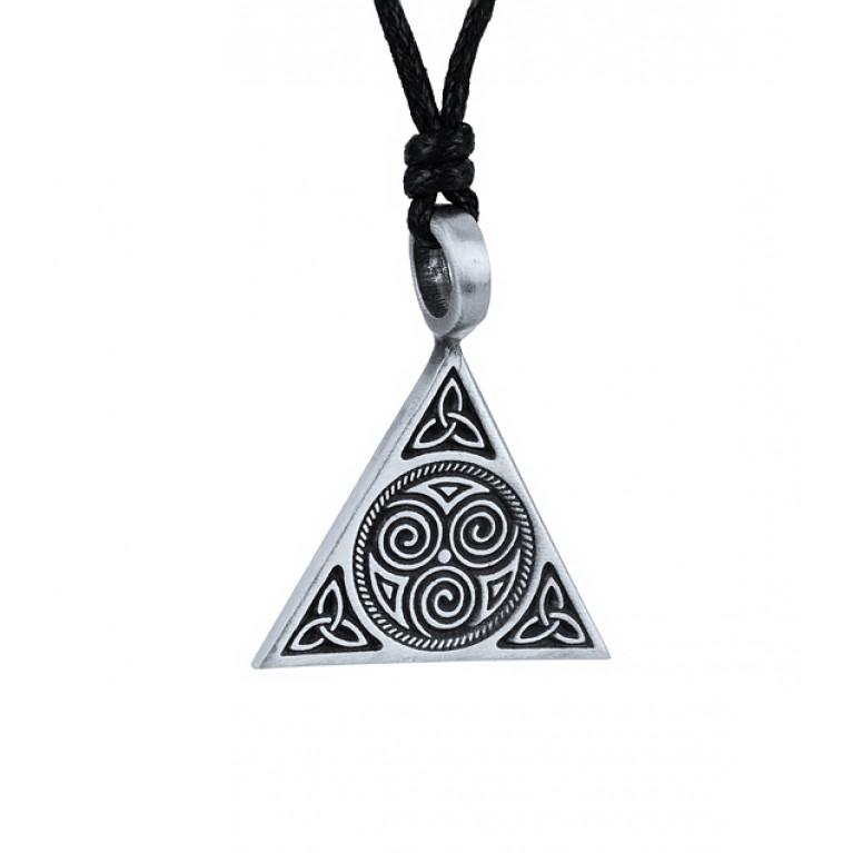 """Подвеска из оловянного сплава """"Кельтская пирамида"""""""