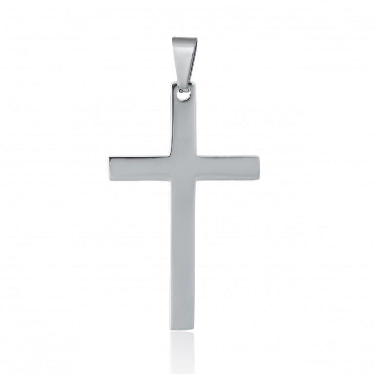 Подвеска Крест из ювелирной стали