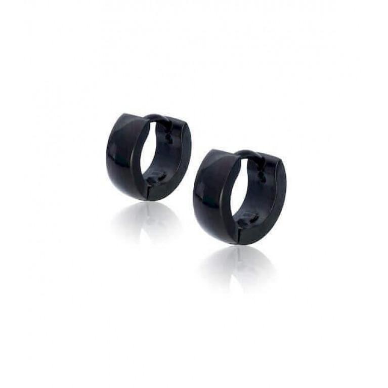 Серьга черная микро ширина 3 мм. внутр. диаметр 7 мм.