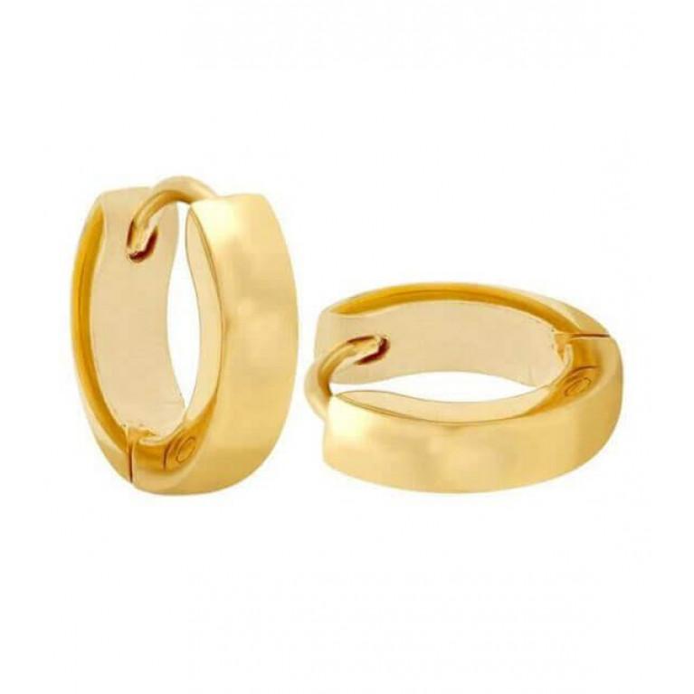Серьга под золото ширина 2,5 мм. внутр. диаметр 9 мм.